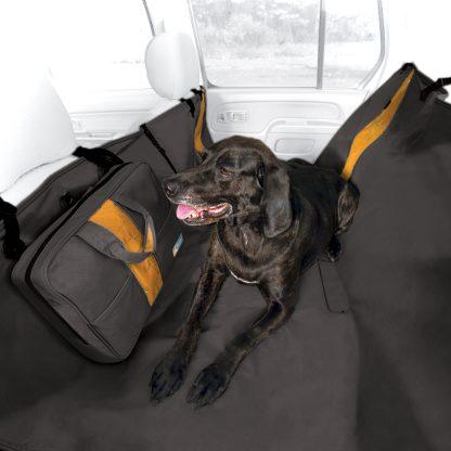 Kurgo Wander baksätesskydd Svart hund
